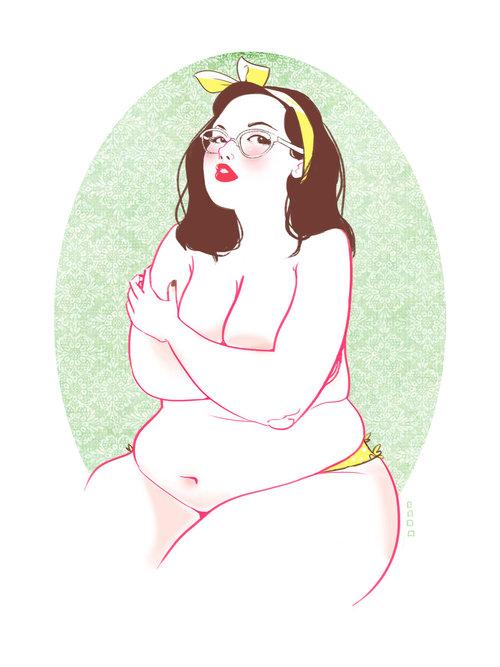 Рисунки жирных девушек — 11