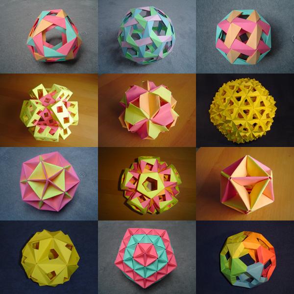 Шары оригами из бумаги