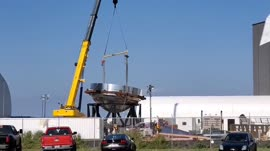 At Boca Chica the first bulkhead has been moved onto the te[...].mp4