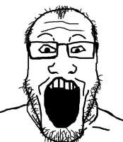 лысеющий человек с жидкой бородой открыл рот.jpg